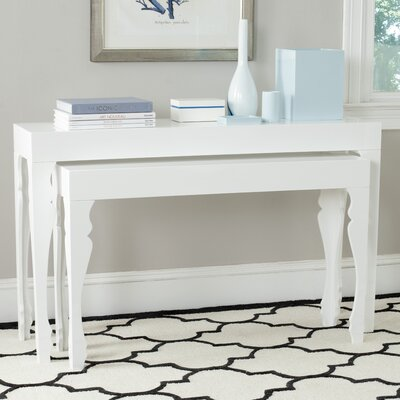 Beth 2 Piece Console Table Set Finish: White