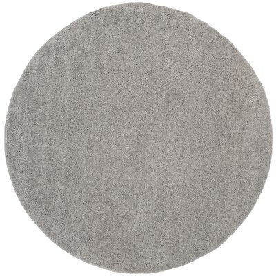 Curran Shag Light Gray Area Rug Rug Size: Round 67