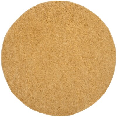 Curran Gold Area Rug Rug Size: Round 67