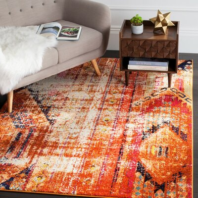Crosier Orange Area Rug
