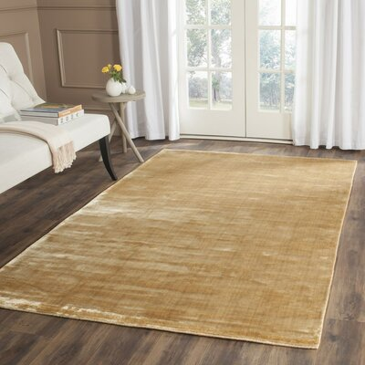 Mirage Old Gold Area Rug Rug Size: 4 x 6