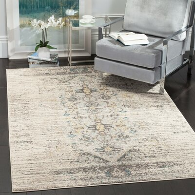 Hydra Grey Area Rug Rug Size: Rectangle 51 x 77