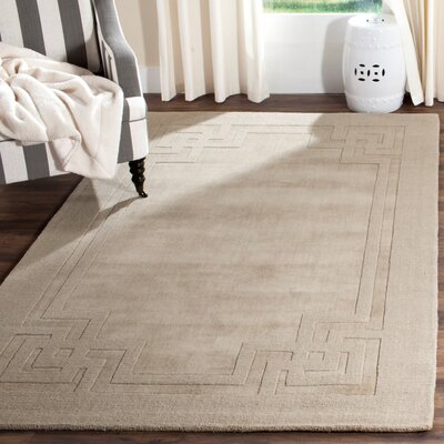 Deco Hand-Loomed Beige/Gray Area Rug Rug Size: Rectangle 5 x 8