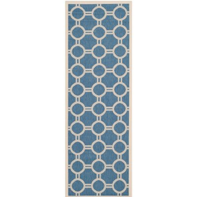 Courtyard Blue/Beige Inddor/Outdoor Area Rug