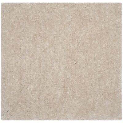 Jayne Shag Hand Woven Bone Area Rug Rug Size: Square 8