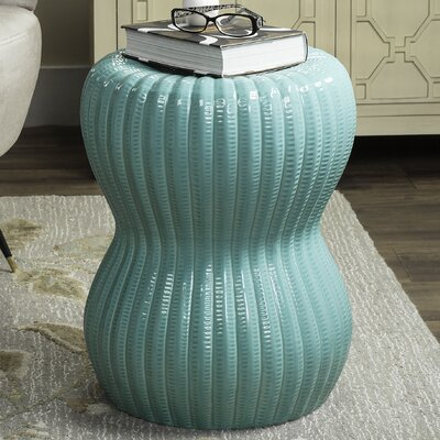 Hour Glass Garden Stool Finish: Light Aqua