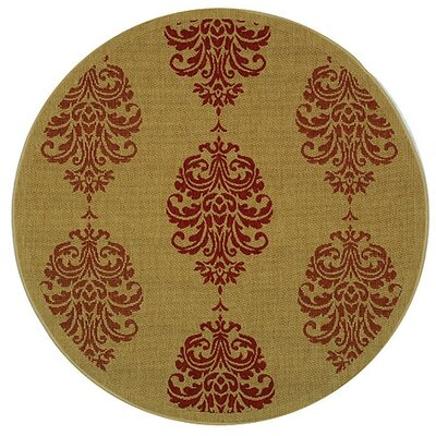 Poole Terracotta Indoor/Outdoor Area Rug Rug Size: Round 53