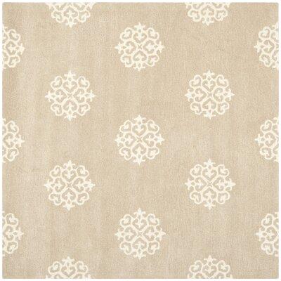 Soho Beige / Ivory Rug Rug Size: Square 6' x 6'