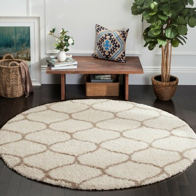 Tate Ivory/Beige Area Rug Rug Size: Rectangle 2'3