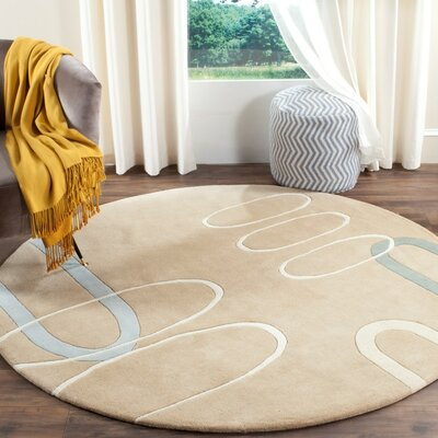 Soho Beige Area Rug Rug Size: Rectangle 76 x 96