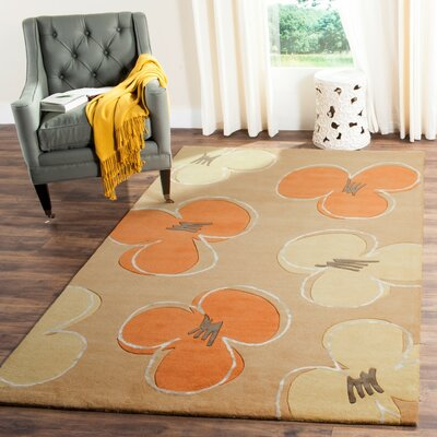 Soho Gold Area Rug Rug Size: Rectangle 5 x 8