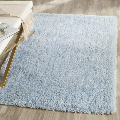 Winnett Hand-Tufted Light Blue Area Rug Rug Size: Square 5 x 5
