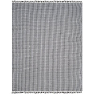 Oxbow Hand-Woven Navy Area Rug Rug Size: Rectangle 8 x 10