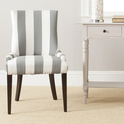 Lester Side Chair Upholstery/Color: Grey/White Stripe