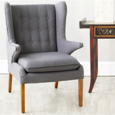 Gomer Wingback Chair Upholstery: Steel Gray