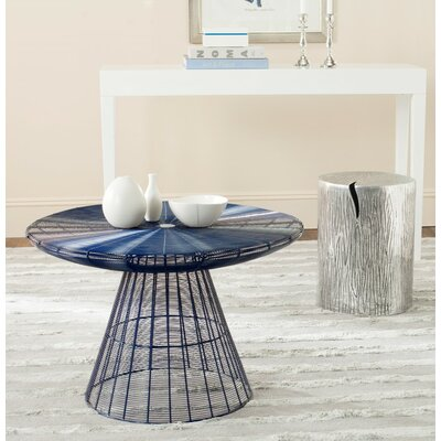 Reginald Wire Coffee Table Color: Blue