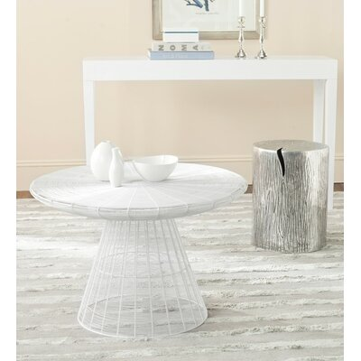 Reginald Wire Coffee Table Color: White