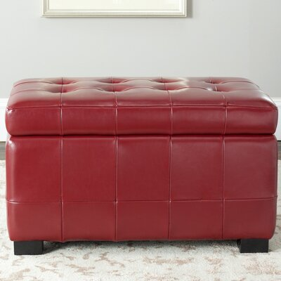Strickland Ottoman Upholstery: Red