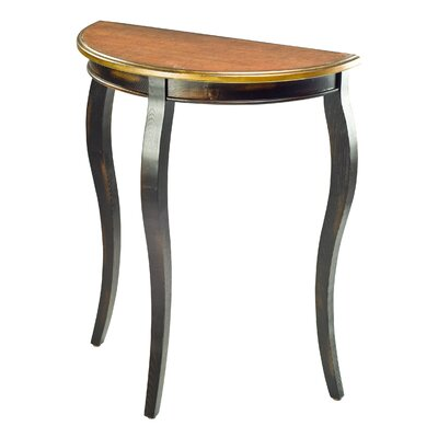 Cheap Safavieh Ava French Demilune End Table in Distressed Black (FV16276)