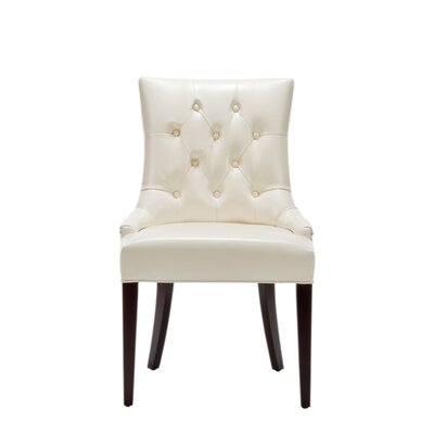 Cream Leather Furniture on Safavieh Amanda Leather Side Chair In Cream Best Price