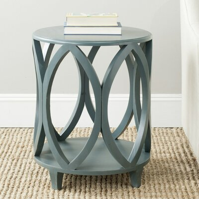 Janika End Table Color: Dark Teal