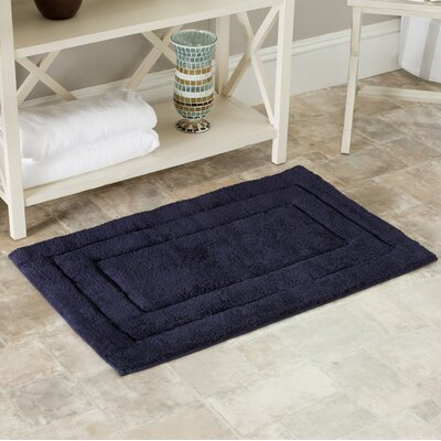 Plush Master Bath Rug Size: 27 H x 45 W, Color: Navy / Navy