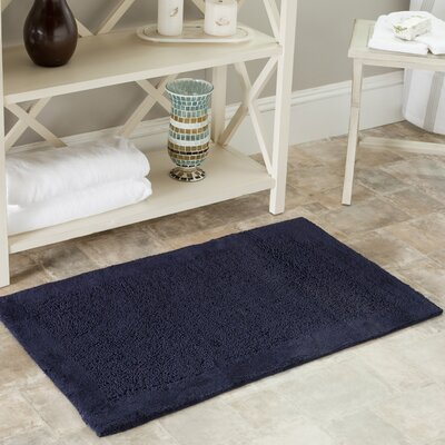 Plush Master Bath Rug Color: Navy, Size: 27