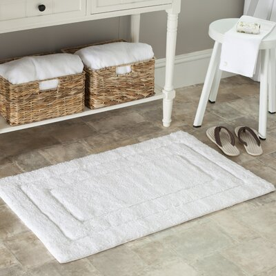 Plush Master Bath Rug Size: 21 H x 34 W, Color: White / White