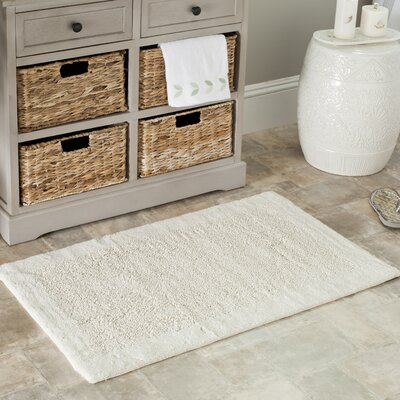 Plush Master Bath Rug Size: 21 H x 34 W, Color: Natural