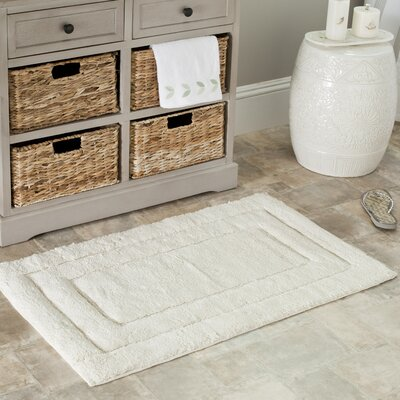 Plush Master Bath Rug Size: 21 H x 34 W, Color: Natural / Natural
