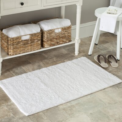 Plush Master Bath Rug Size: 27 H x 45 W, Color: White
