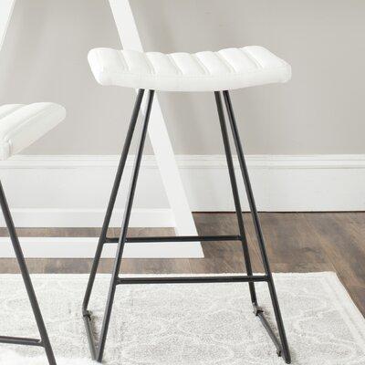 Akito 26 Bar Stool Upholstery: White