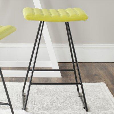 Akito 26 inch Bar Stool Upholstery: Citron Green
