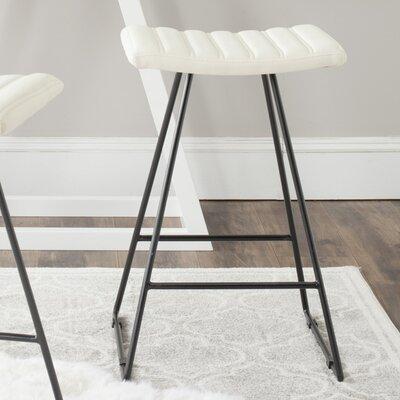 Akito 26 inch Bar Stool Upholstery: Cream