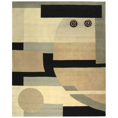 Rodeo Drive Tan Area Rug Rug Size: 96 x 136