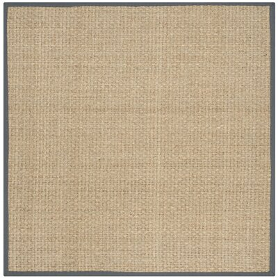 Binford Natural/Dark Gray Area Rug Rug Size: Square 6