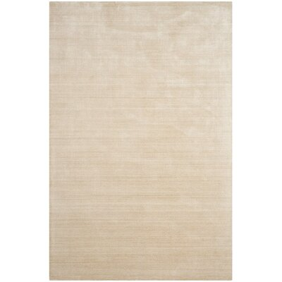 Mirage Hand-Woven Beige Area Rug Rug Size: Rectangle 9 x 12