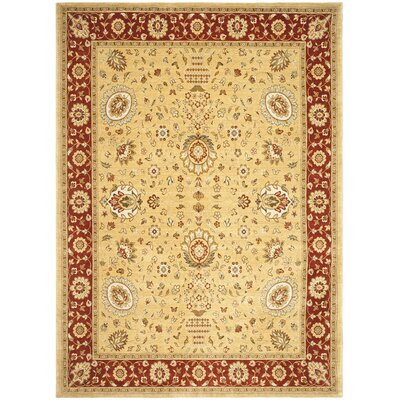 Tuscany Gold/Red Area Rug Rug Size: 4 x 56