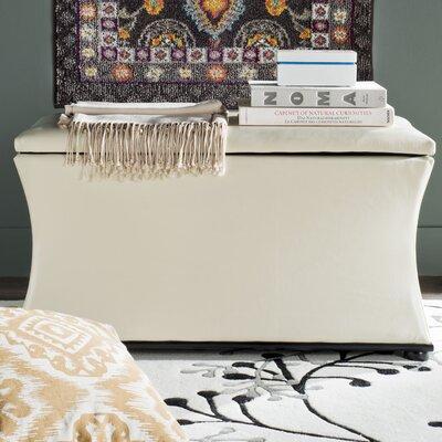 Aroura Storage Ottoman Upholstery: White