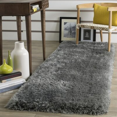 Jayne Hand Tufted Gray Area Rug Rug Size: Runner 23 x 8