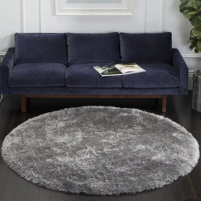 Luxe Hand Tufted Gray Area Rug Rug Size: 5 X 8