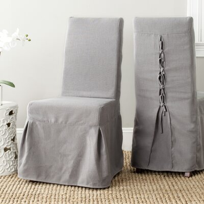Kallie Slipcover Side Chair Upholstery: Arctic Grey