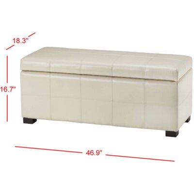 Madison Leather Storage Bench Color: Cream