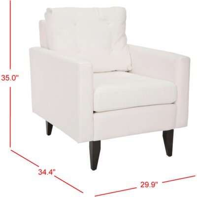 Sophie Cotton Arm Chair Color: White