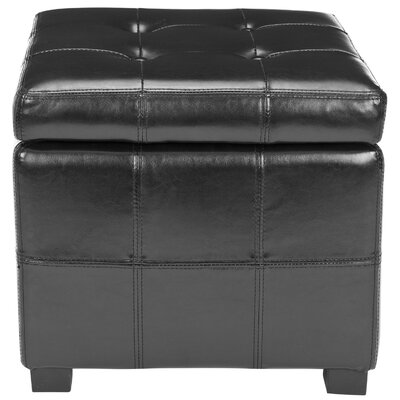 William Ottoman Upholstery: Black