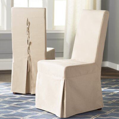 Kallie Slipcover Side Chair Upholstery: Beige