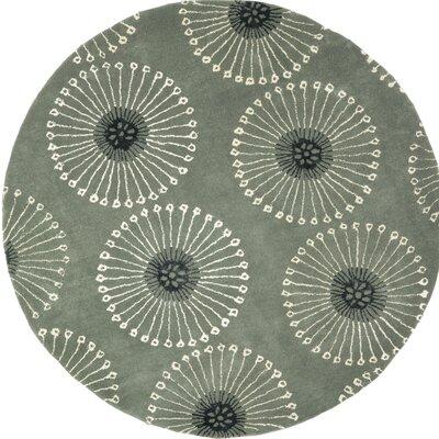 Soho Gray/Ivory Area Rug Rug Size: Round 6