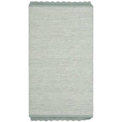 Mohnton Hand-Woven Light Blue/Gray Area Rug Rug Size: Rectangle 3 x 5