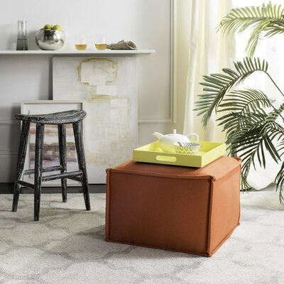 Elaine Ottoman Upholstery: Burnt Orange