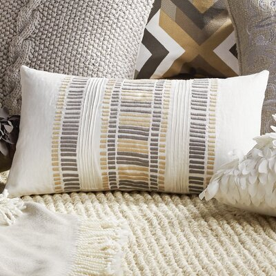 Linea Linen Lumbar Pillow Color: Cream Granite